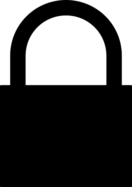 black, flat, icon, silhouette, cartoon, padlock, lock