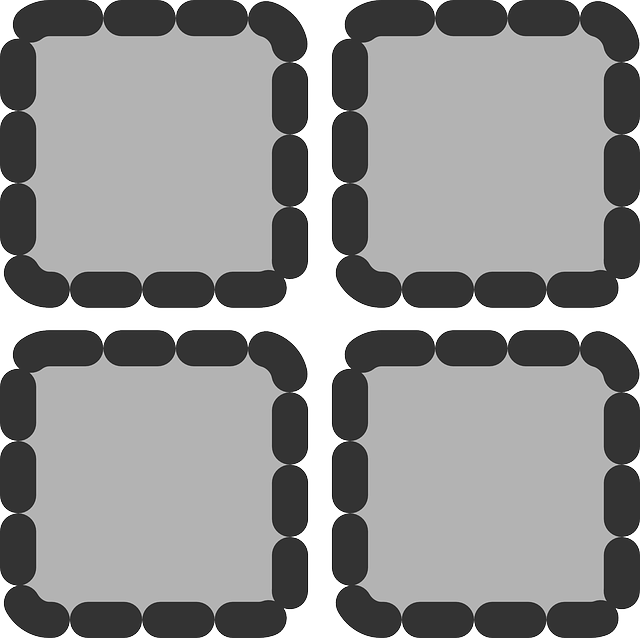 black, flat, square, grey, theme, action, dotted