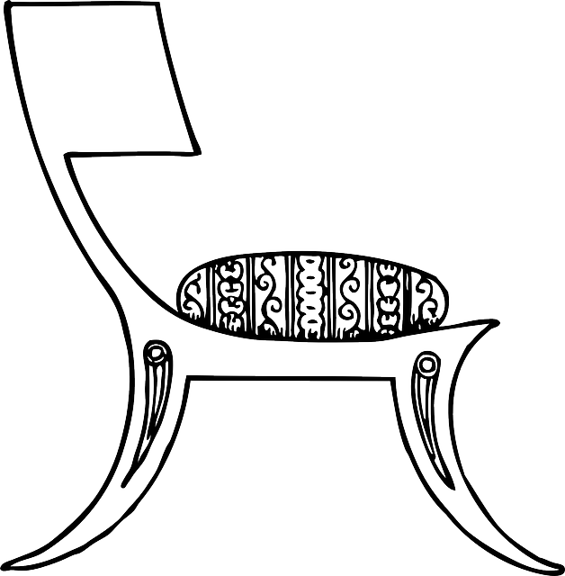 black, outline, chair, white, free, furniture, style