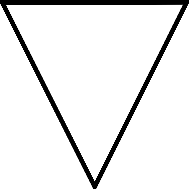 black, outline, symbol, white, triangle, elements, four