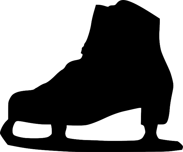 black, silhouette, ice, shoe, skate, boots, boot