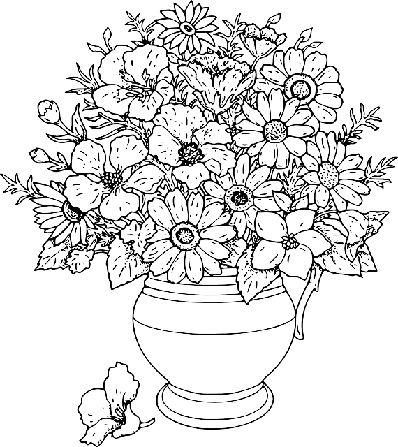 black, simple, outline, drawn, drawing, sketch, plants