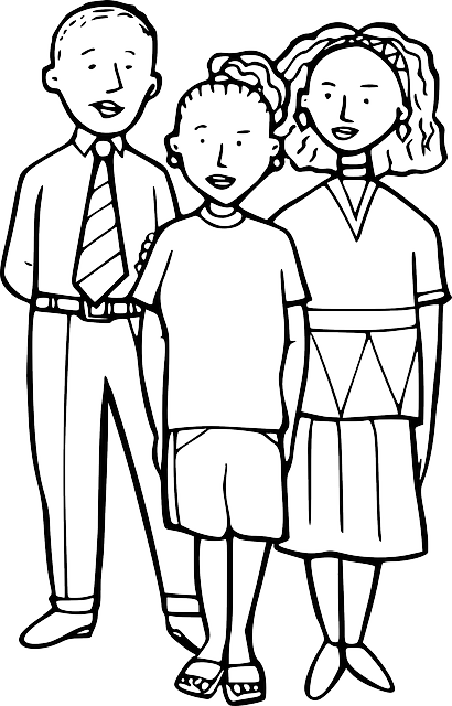 black, simple, outline, people, child, white, children