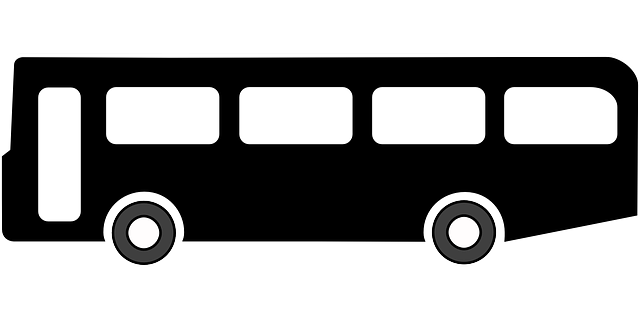 black, stop, symbol, silhouette, bus, transportation
