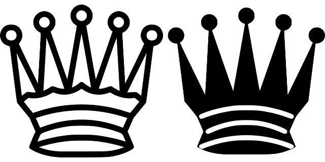 black, symbol, king, queen, white, cartoon, chess, tile