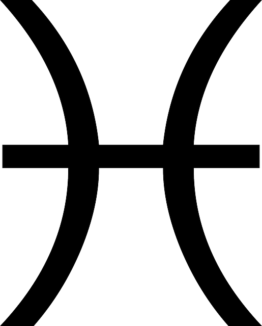 black, symbol, white, zodiac, pisces, astrology