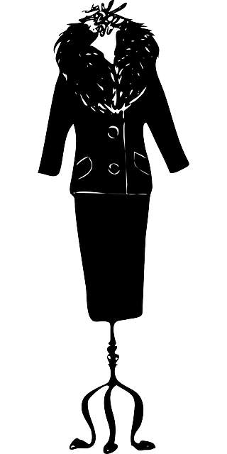 black, woman, suit, vest, skirt, skirts, sewing