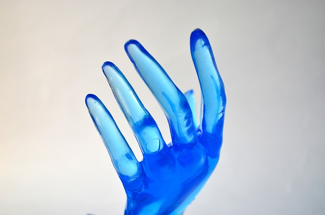 blue, hand, thumb, fingers, plastic, closeup, view