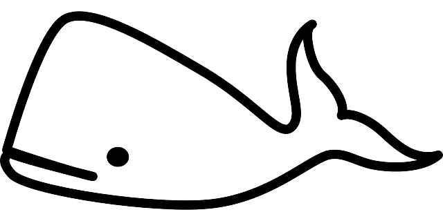 blue, sketch, silhouette, cartoon, template, fish, cute