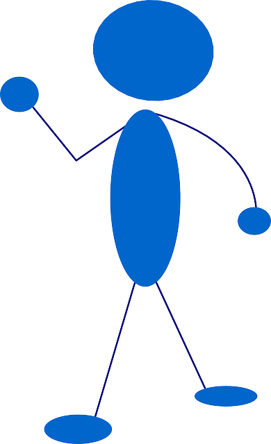 blue, stick, hand, people, man, guy, figure, person