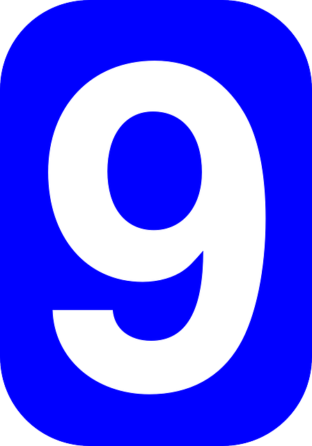 blue, white, font, number, rounded, rectangle, numbers