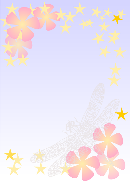 blue, yellow, bride, groom, flowers, stars, pink