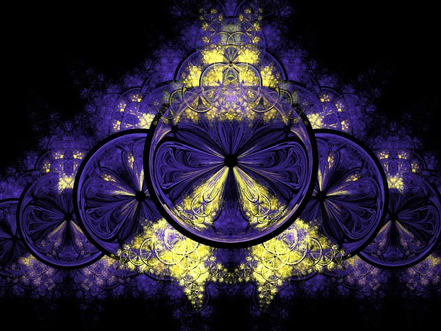 blue, yellow, golden, fractal, fractals