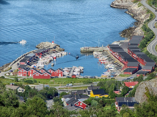 bodo, norway, harbor, bay, water, boats, ships, road