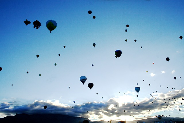 bolloon, hot air balloons, balloon fiesta, sky, flying