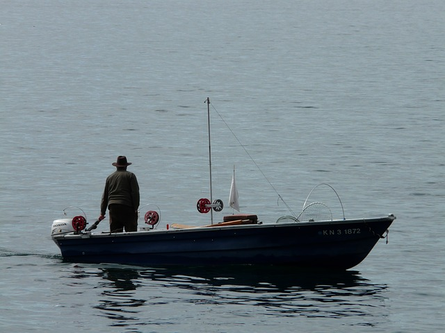boot, fishing boat, fischer, water, see, sea, fish