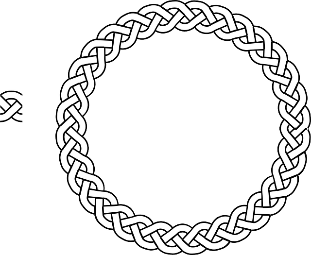 border, braid, frame, plait, rope, circle