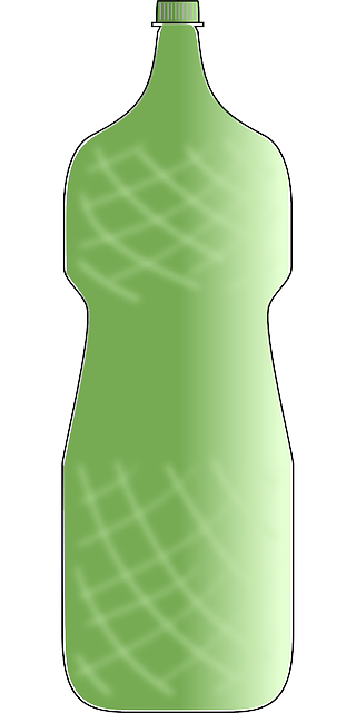 bottle, plastic, can, water, green