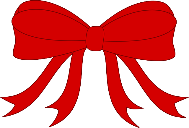 bow, knot, present, red, ribbon, simple, tie, tied