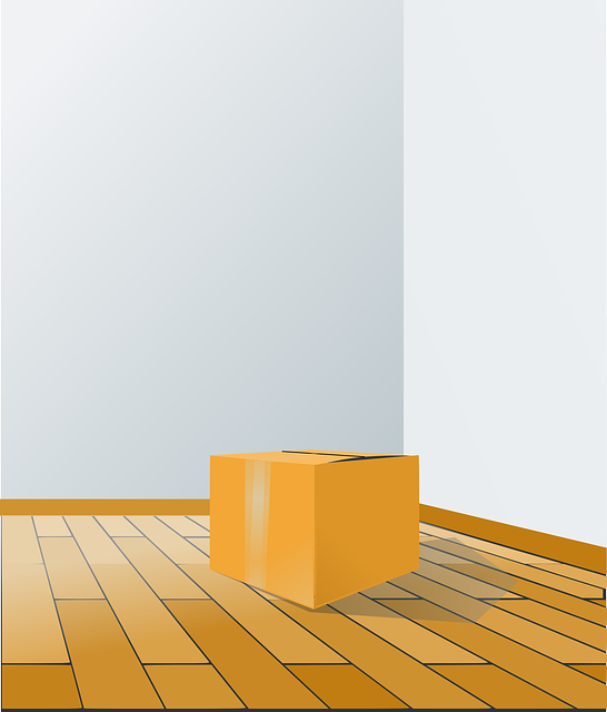box, floor, perspective, room, wood, package