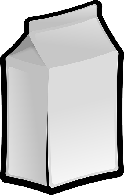 box, glass, food, outline, bottle, cartoon, free, milk