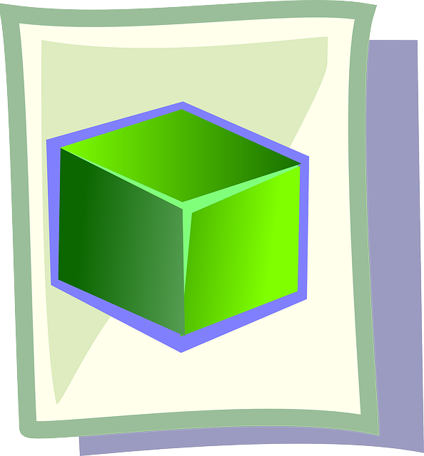 box, green, flat, icon, cube, theme