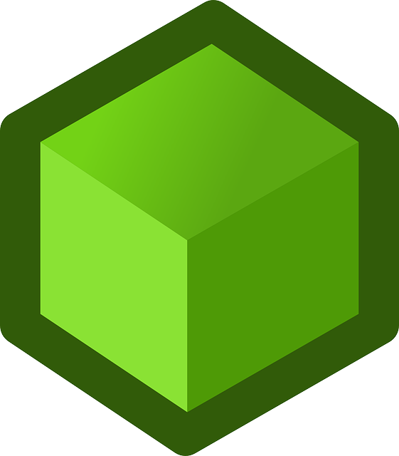 box, green, flat, icon, free, cube, shape, cubes