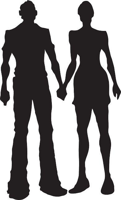 boy, man, silhouette, female, male, woman, girl, hands