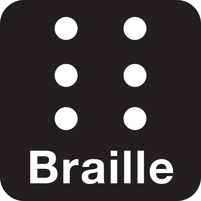 braille, barrier-free, black, symbol, sign, icon