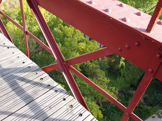 bridge, architecture, urban, engineering, iron bridge