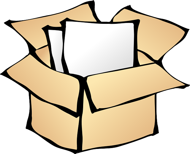 brown, box, paper, open, package, cardboard, packaging