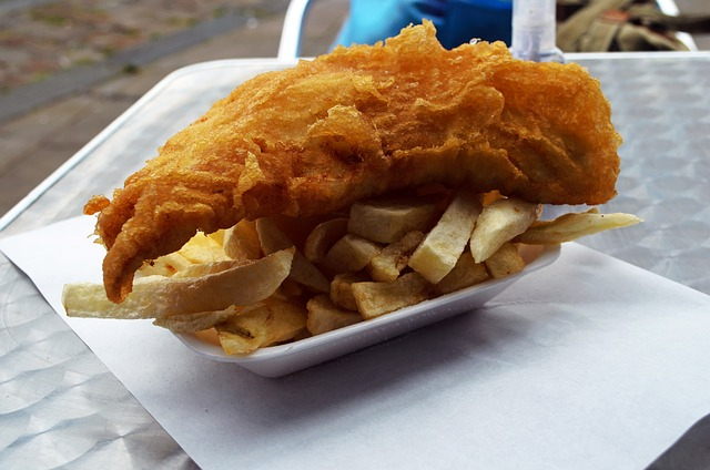 brown, carton, chips, cholesterol, cod, delicious