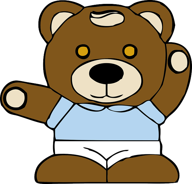 brown, outline, kids, face, cartoon, free, toy, teddy