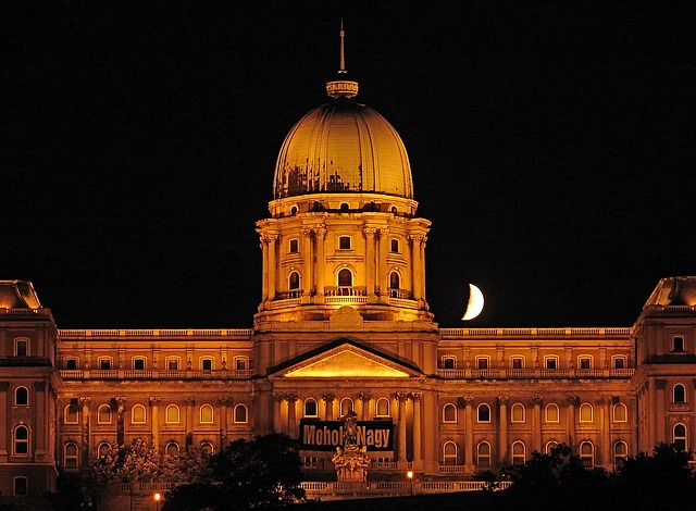 budapest, hungary, at night, palace, architecture