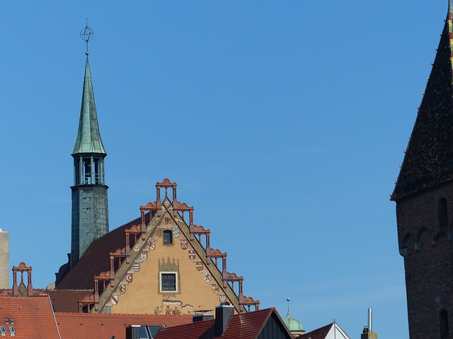 building, architecture, facade, ulm, town hall