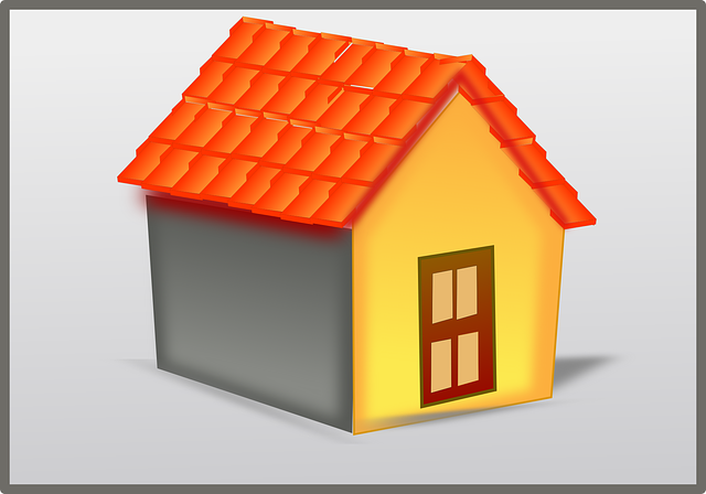 building, home, house, roof, tiles, 3d