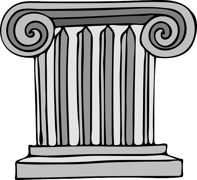 building, small, cartoon, column, greek, architecture