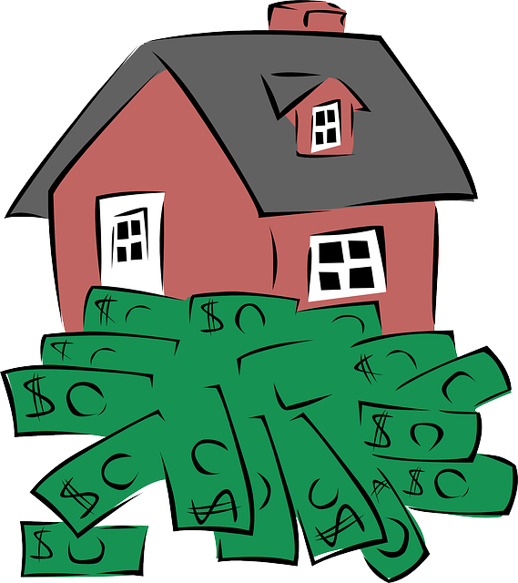 buildings, house, cartoon, money, notes, homes, estate