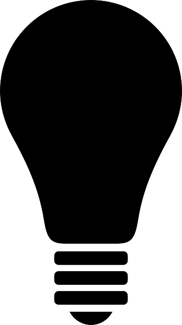 bulb, light, electric bulb, light bulb, lamp, simple
