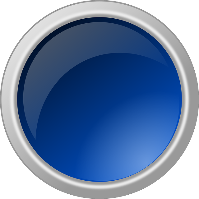button, glossy, round, circle, blue