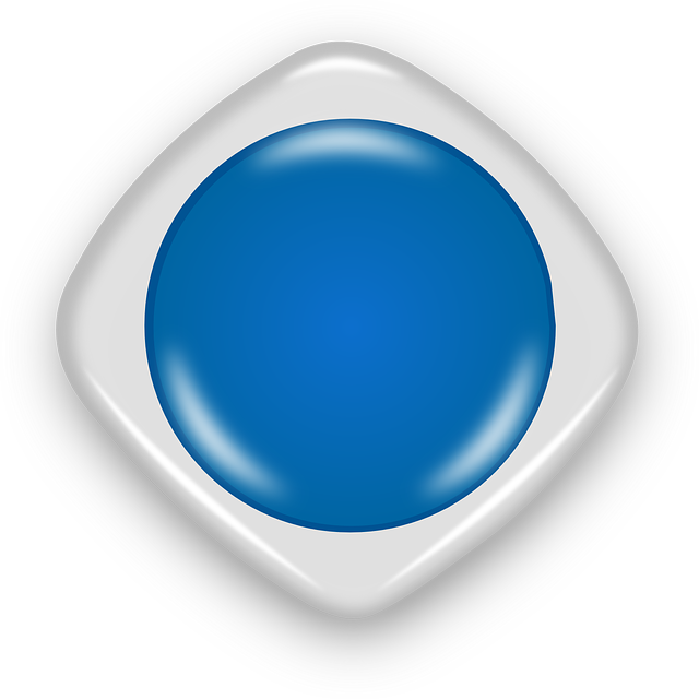 button, round, blue, abstract, shiny, glossy