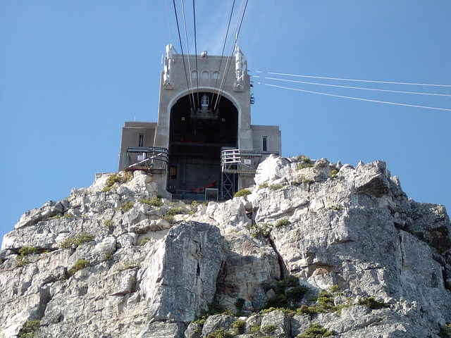 cable car, funicular, cape town, south africa