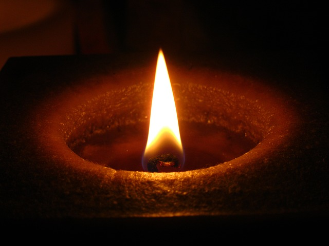 candlelight, candle, flame, wax candle, night