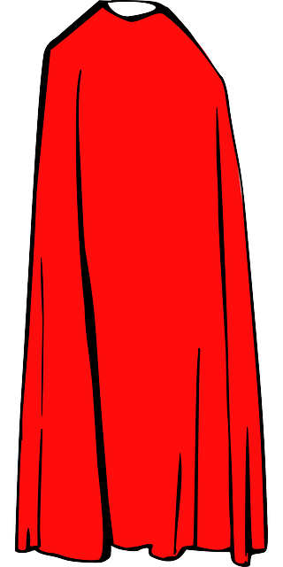 cape cloak, cape, red, cloth, cloak