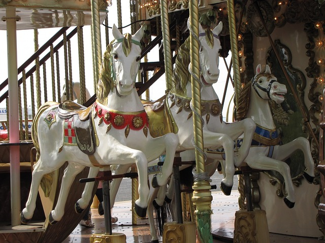 carousel, horse, horses, wood, ancient, antique