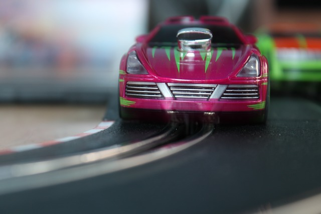 carrera, auto, red, miniature, toys, automotive