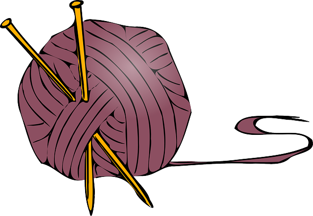 cartoon, knitting, ball, free, clothing, needle