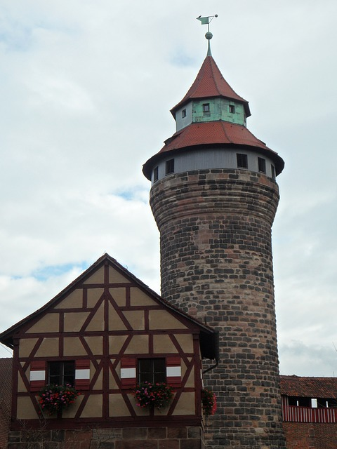 castle, castle tower, tower, imperial castle, nuremberg