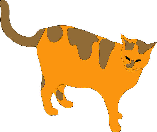 cat, brown, cartoon, orange, pet, animal, animals