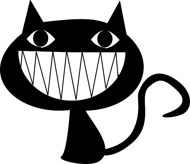 cat, laughing, grinning, evil, teeth, psycho, animal